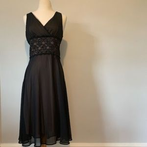Lingerie Inspired Fit and Flare Dress